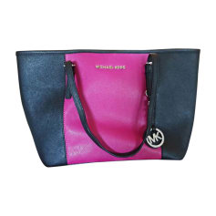 Leather Handbag MICHAEL KORS Noir et rose
