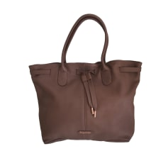 Leather Handbag REPETTO Brown