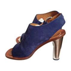 Heeled Sandals CÉLINE Blue, navy, turquoise