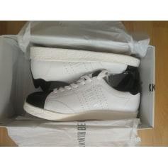 Lace Up Shoes DIRK BIKKEMBERGS blanc / noir