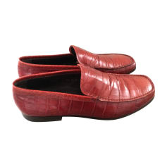Loafers PRADA Red, burgundy