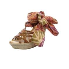 Sandales compensées ANTIK BATIK Beige, camel
