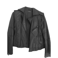 Leather Jacket ZADIG & VOLTAIRE Gray, charcoal