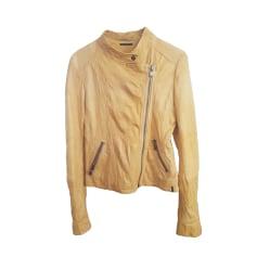 Leather Jacket IKKS Yellow