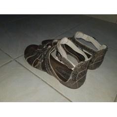 Sandales plates  REGARD Doré, bronze, cuivre