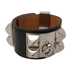 Armband HERMÈS Collier de Chien Schwarz
