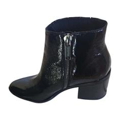Cowboy Ankle Boots CALVIN KLEIN Black