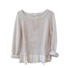 Sweater MAJE White, off-white, ecru