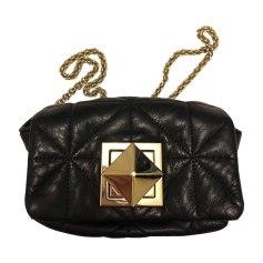 Leather Shoulder Bag SONIA RYKIEL Black