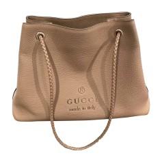 Leather Oversize Bag GUCCI Beige, camel