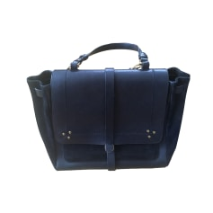 Leather Shoulder Bag JEROME DREYFUSS Black