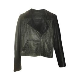 Leather Zipped Jacket IKKS Animal prints