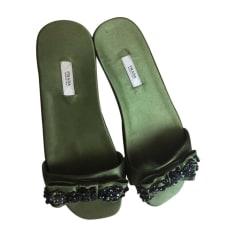 Flat Sandals PRADA Green
