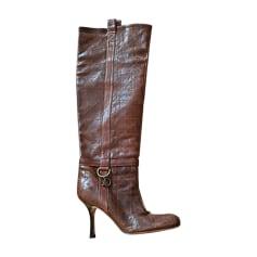 High Heel Boots DIOR Brown