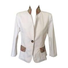 Blazer BURBERRY White, off-white, ecru