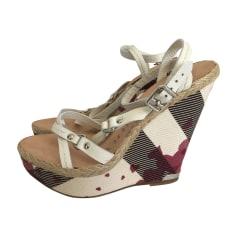Wedge Sandals BURBERRY White, off-white, ecru
