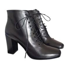 High Heel Ankle Boots SAINT LAURENT Black