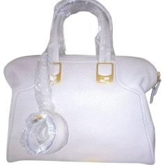 Leather Handbag FENDI White, off-white, ecru