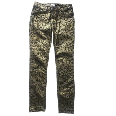 Straight Leg Jeans CLAUDIE PIERLOT Golden, bronze, copper
