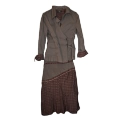 Tailleur jupe ONE STEP Marron