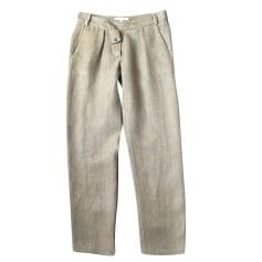 Straight Leg Pants MAJE Khaki