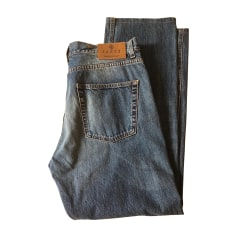 Wide Leg Jeans GUCCI Blue, navy, turquoise