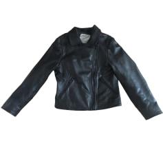 Leather Zipped Jacket IKKS Black