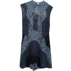 Playsuit SANDRO Blue, navy, turquoise