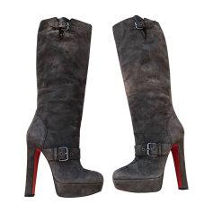 High Heel Boots CHRISTIAN LOUBOUTIN Gray, charcoal