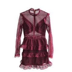Robe courte SELF PORTRAIT Rouge, bordeaux