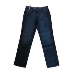 Jeans droit ROBERTO CAVALLI Bleu, bleu marine, bleu turquoise