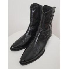 Santiags, bottines, low boots cowboy TOPSHOP Noir