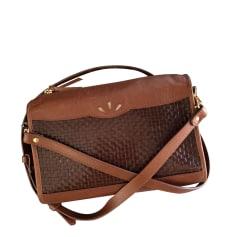 Leather Shoulder Bag DES PETITS HAUTS Brown