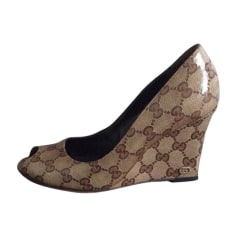 Wedges GUCCI Brown