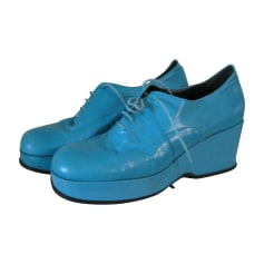 Chaussures à lacets  JIL SANDER Bleu, bleu marine, bleu turquoise