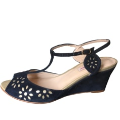 Wedges PATRICIA BLANCHET Blue, navy, turquoise