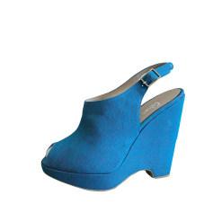 Sandales compensées CASTANER Bleu, bleu marine, bleu turquoise