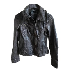 Leather Jacket ALL SAINTS Brown