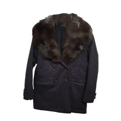 Fellblouson, Pelzjacke THE KOOPLES Blau, marineblau, türkisblau