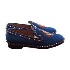 Mokassins CHRISTIAN LOUBOUTIN Blau, marineblau, türkisblau