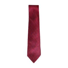 Cravate HERMÈS Rose, fuschia, vieux rose