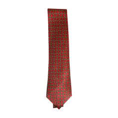 Cravatta HERMÈS Rosso, bordeaux
