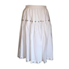 Midi Skirt KENZO White, off-white, ecru