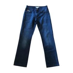 Jeans droit BURBERRY Noir