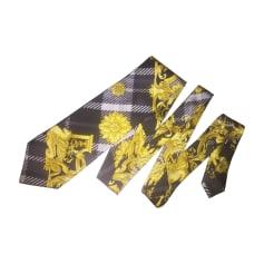 Tie VERSACE Golden, bronze, copper