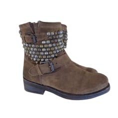 Bottines & low boots motards ASH Marron
