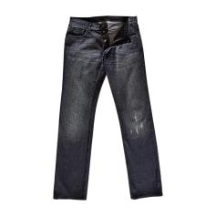 Jeans droit FENDI Gris, anthracite