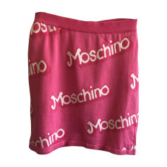 Mini Skirt MOSCHINO Pink, fuchsia, light pink