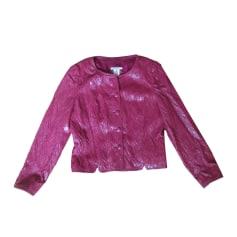 amp; Vestes Manteaux Luxe Rouge Simili Marque De Bordeaux Cuir Femme ZRR5wdq