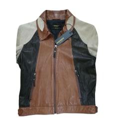 Leather Jacket DIESEL Beige, camel